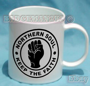 Northern-Soul-Keep-the-Faith-MUG-PERSONALISED-FREE-Retro-Music-Lovers