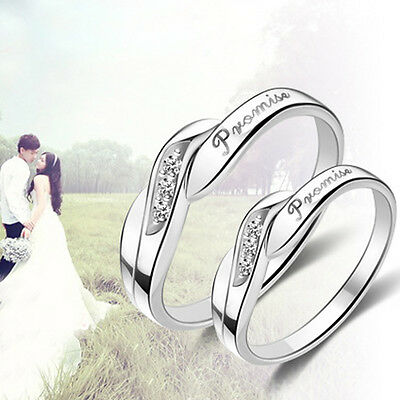 Hot Fashion Silver Opening Adjustable Promise Lovers Rings Gifts New