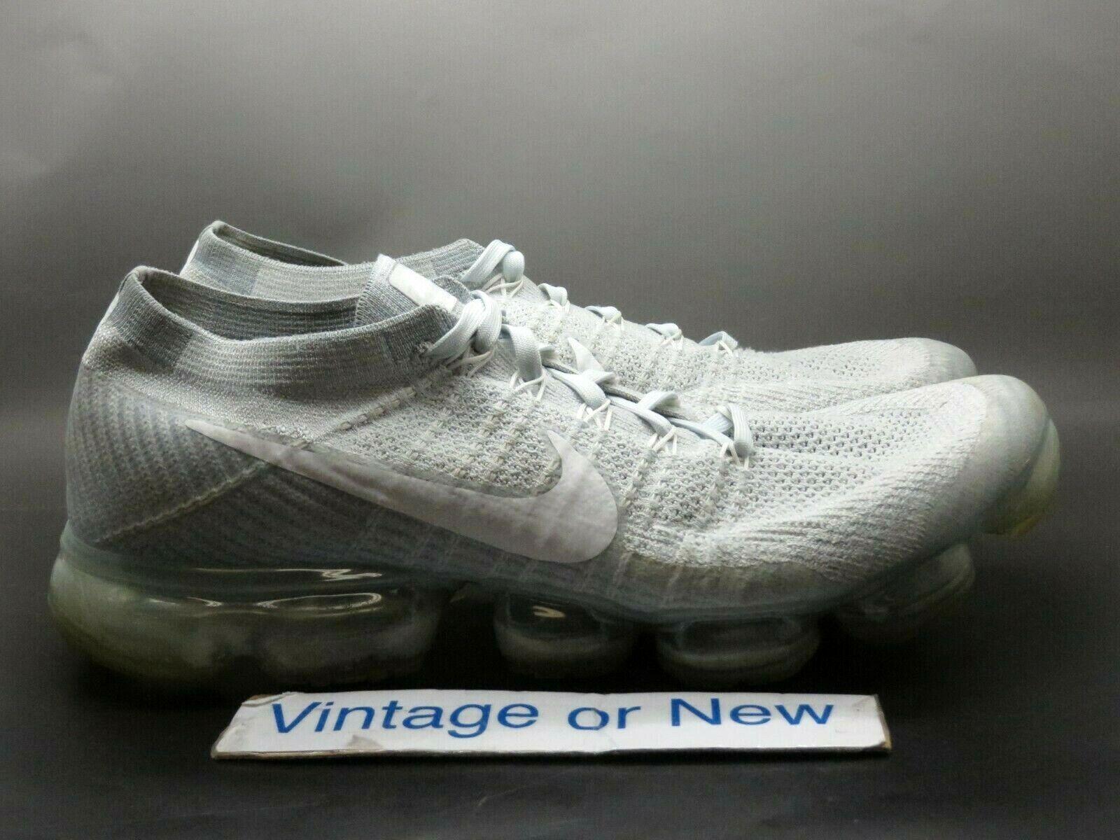 Men's Nike Air VapormMax Pure Platinum 2017 Running shoes 849558-004 sz 12