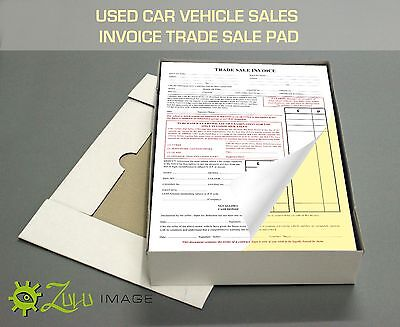 2 PART NCR 5 x A5 USED CAR SALES RECEIPT INVOICE PADS
