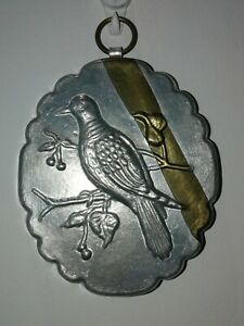 Vintage Aliminium  Small Pie/Jelly Mould Bird Decoration. Wall Hanging Hook   a
