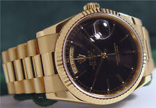 ROLEX - Mens Jet Black 18kt Gold PRESIDENT Model 118238 SANT BLANC