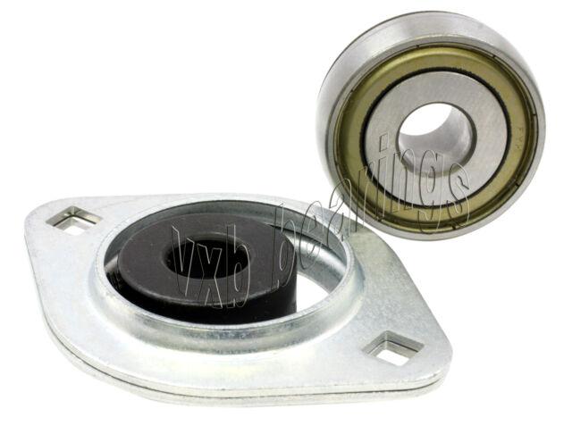 FYH Bearings SAPF202 15mm Stamped steel Flanged