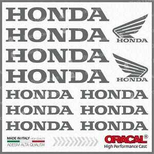 12x-Aufkleber-Grau-Kompatibel-Honda-Nc-700-750-X-VFR-1200-CB-500-F-Crf-1000-L