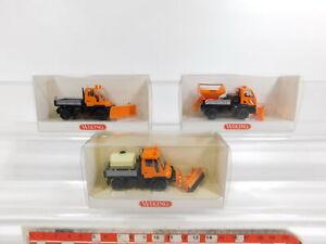 Cg364-0-5-3x-Wiking-h0-1-87-646-MB-Unimog-servicio-de-invierno-barredora-Neuw-embalaje-original