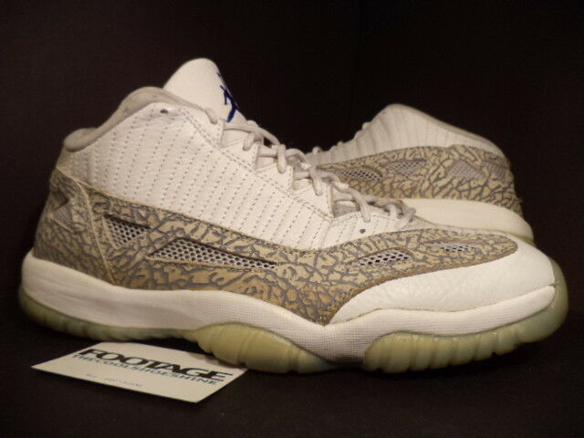 2003 Nike Air Jordan XI 11 Retro Low WHITE COBALT ZEN GREY CEMENT BLUE Sz 11.5