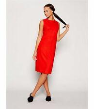NWT Eileen Fisher Boiled Wool Jersey Crewneck Shift Dress Poppy Size L MSRP $248