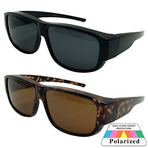 900eb31d858fc LESS BULKY Men Women POLARIZED Cover Put Over Sunglasses Wear Rx Fit ...