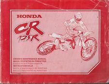 HONDA CR125R OFFROAD MOTORCYCLE ORIGINAL 1997 FACTORY REPAIR MANUAL