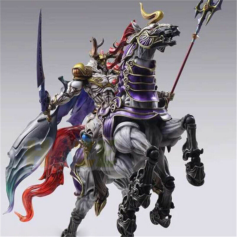Final Fantasy XIII 13 Play Arts Kai battle God Odin PVC Action Figure No Box 9