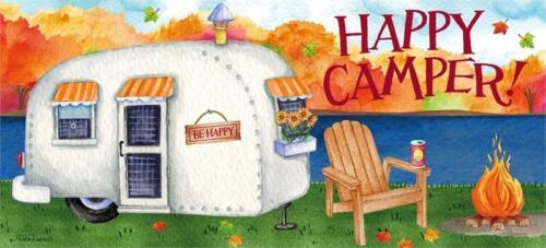 "Happy Camper Sassafras Switch Mat  22/""x10/"" Evergreen Door Mat"