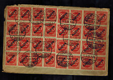 1923 Oldenburg Germany Inflation cover to Elsfleth 40 500,000 RM Stamps!