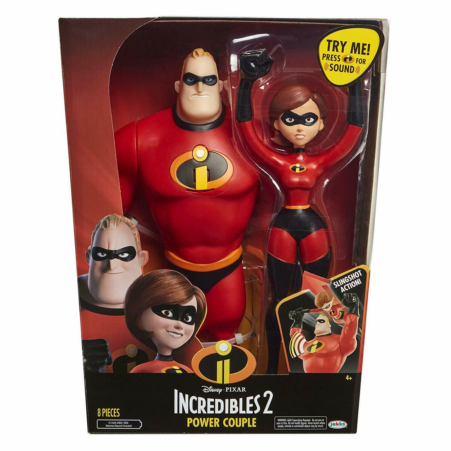 Incredibles 2 Power Couple Mr Incredible and Elastigirl Sling Shot 4+ Toy Doll