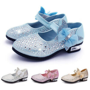 Toddler Shoes Kids Baby Girls Shoes Crystal Sequin Single Princess Shoes Sandals