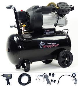 KnappWulf-Luftkompressor-Druckluft-Kompressor-50L-Kessel-2200W-2-Zylinder-10-bar