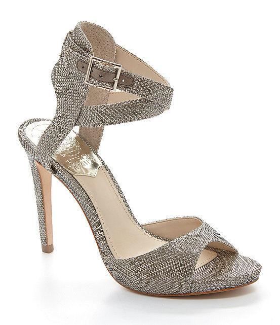 Women Vince Camuto Faunora Dress Sandals, Sizes 7.5-10 gold Silver VC-Faunora Fl