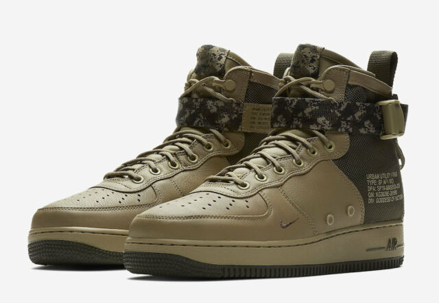 promo code 154d0 1331d Nike SF Af1 Air Force 1 Mid Mens 917753-201 Olive Cargo Khaki Shoes Size 10