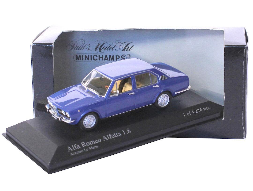 1 43 Minichamps - Alfa Romeo Alfetta 1.8 Berlina 1972 - blau