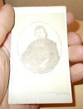PHOTO CDV DE L'ABBE BOURBON CURE DE RICHELIEU 36 PAR TERUEL VERS 1860