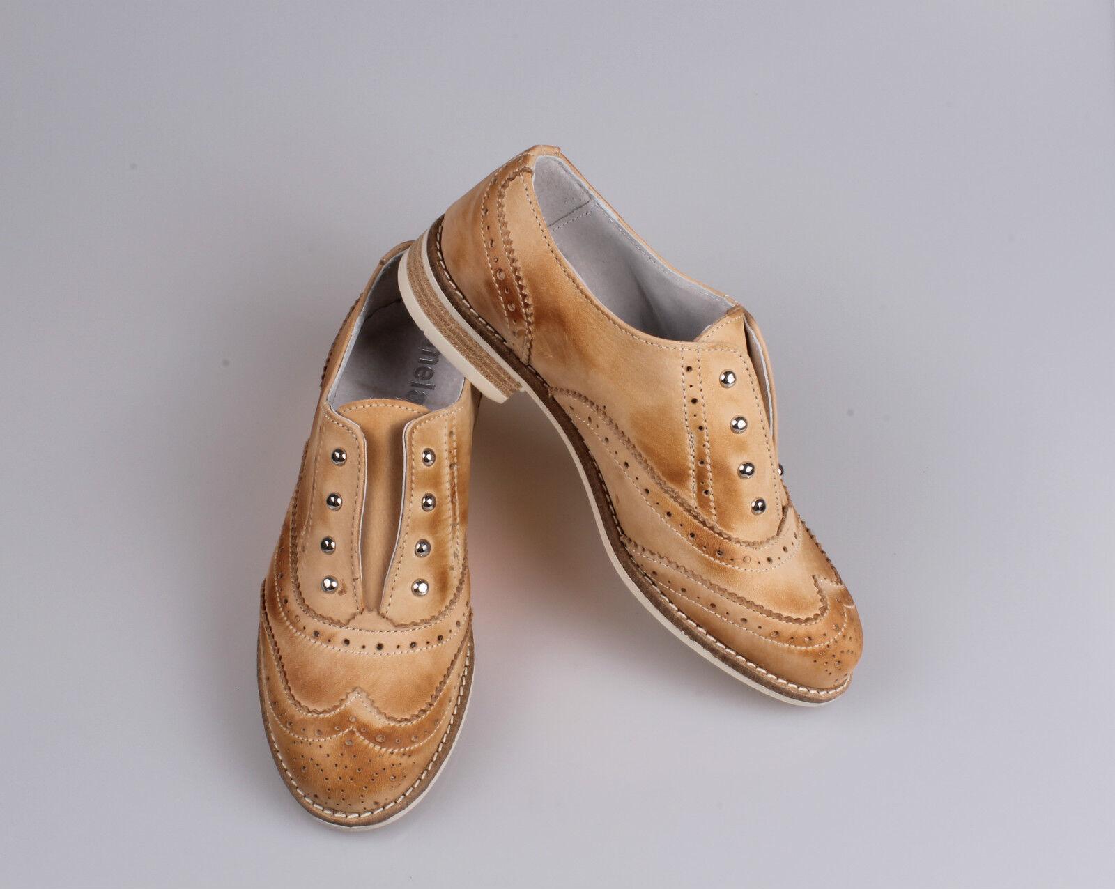 separation shoes 76f3e d5cba Scarpe donna stringate francesine manifattura Modello OXFORD VERA VERA VERA  ... 1fcae2