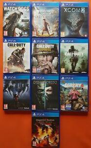 Lot de 10 Jeux Pour Sony PS4 comme neuf dans Boîtes Neuves Originales Sony