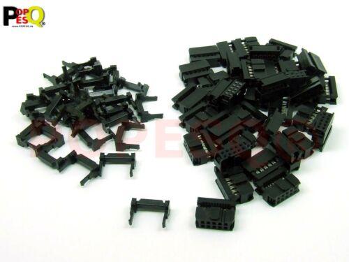 x IDC 2.54mm Stecker Flachbandkabel 10 polig #A3028 50 Stk