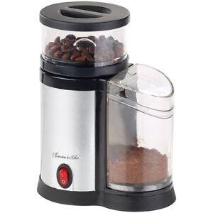 Elektrische-Kaffeemuehle-Edelstahl-Scheibenmahlwerk-und-Blende-150-W