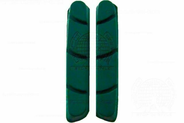 Green Road Brake Pad Inserts for Campagnolo Record Chorus Centaur Cartridge Shoe
