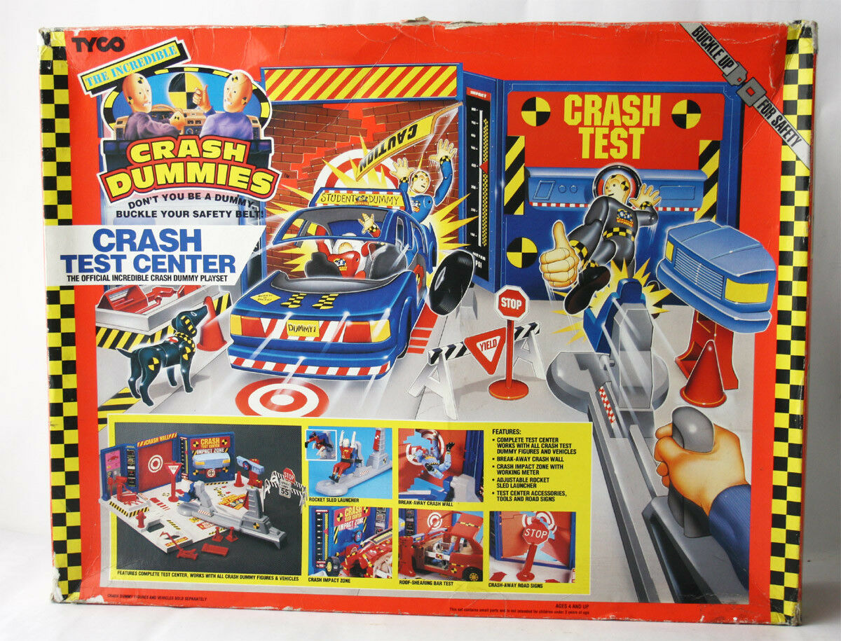 VINTAGE 1991 INCrossoIBLE CRASH DUMMIES CRASH TEST CENTER PLAYSET TYCO NEW SEALED