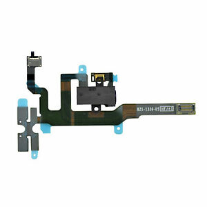 iPhone-4S-Audio-Jack-Flex-Kabel-Laut-Leise-Mute-Stummschalter-Volume-Schwarz