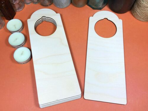 x5 Round Top 24cm Puerta De Madera Perchas Madera forma artesanía Blanks signo formas