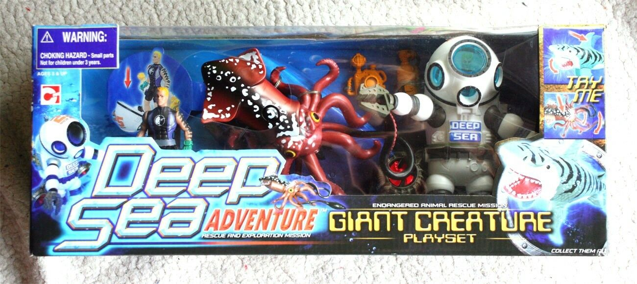 ULTRA RARE DEEP SEA ADVENTURE JugarSET  GIANT CREATURE. 90´s, BRAND NEW OLD STOCK