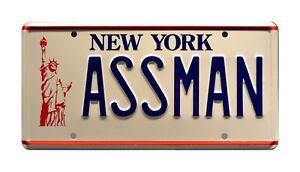 Seinfeld   Cosmo Kramer's Impala   ASSMAN   STAMPED Replica Prop License Plate