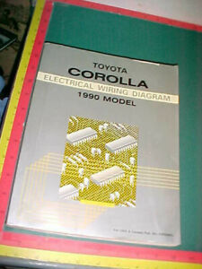 1990 FORD TOYOTA COROLLA WIRING DIAGRAMS SERVICE MANUAL ...
