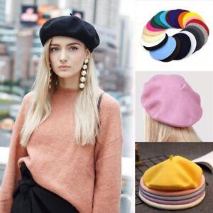 Unisex-Men-Women-Wool-Warm-Beret-Hat-Cap-French-Style-New-Fashion-Costume