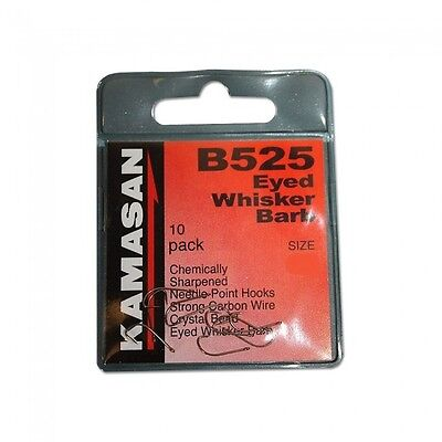 Kamasan B520 Spade End Whisker Barbed Match 10 Hooks in Pack Coarse Carp Fishing
