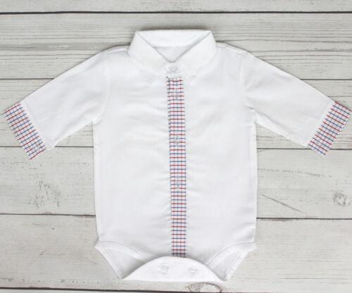 Baby Boy White Smart Shirt Style Formal Bodysuit Body Shirt Long  Sleeve 0-18M