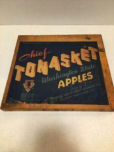 Original CHIEF Tonasket Washington APPLE FRUIT CRATE Box Label