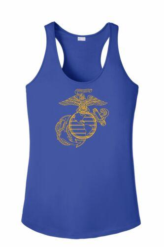 USMC EGA Marine Corp Posi Charge Competitor Racer Back Tank Women Gift XS-4X