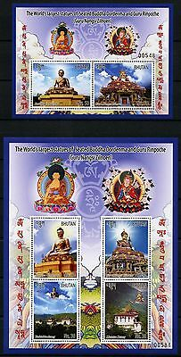 Stamps Bhutan 2016 Buddha Statuen Dordema Guru Rinpoche Klöster Block 559-560 Mnh Rich In Poetic And Pictorial Splendor