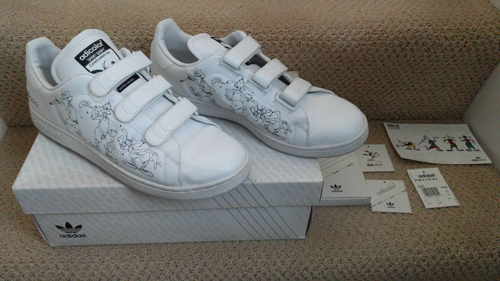 Adidas Stan Smith II 2 CF W4 Disney Goofy ADICOLOR White Black 11.5 RARE! Mint!