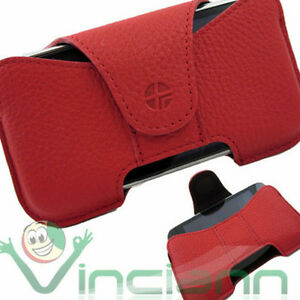 Custodia-URSA-cover-vera-pelle-ROSSO-per-iPhone-3Gs-3G