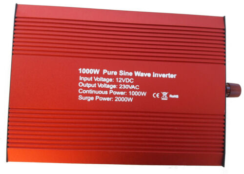 SPARK 1000w 2000W Onda Sinusoidale Pura Inverter 1000 WATT 12v Soft Start 240v AC