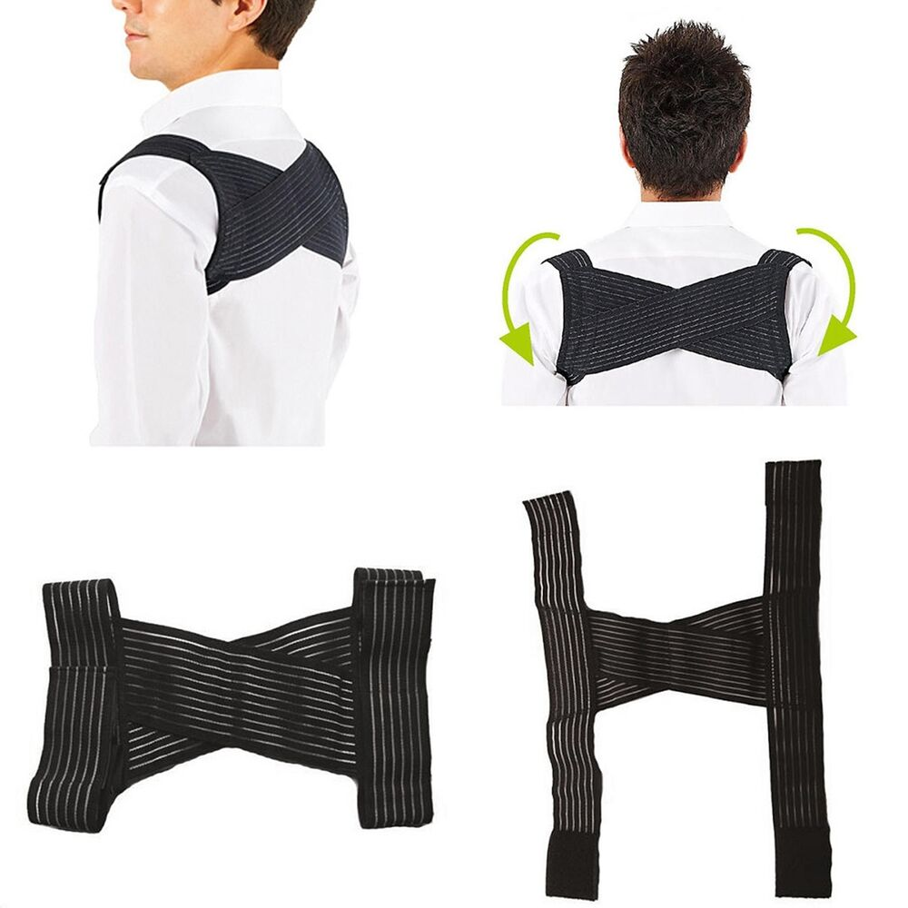 Cy_ 1Pc Men Shoulder Bandage Back Support Orthopedic Brace P