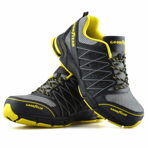 caviglia lavoro ginnastica acciaio punta stivali sicurezza da stivali nero taglia da Mens Goodyear scarpe in xRBx87