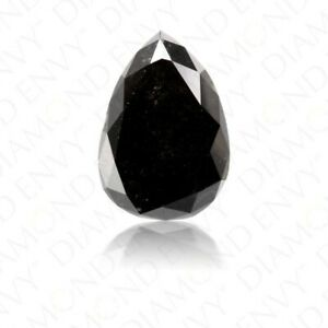 1pcs-3-0cts-Natural-Pear-Cut-Black-Diamond-Loose-Diamond-I3-Clarity-For-Ring