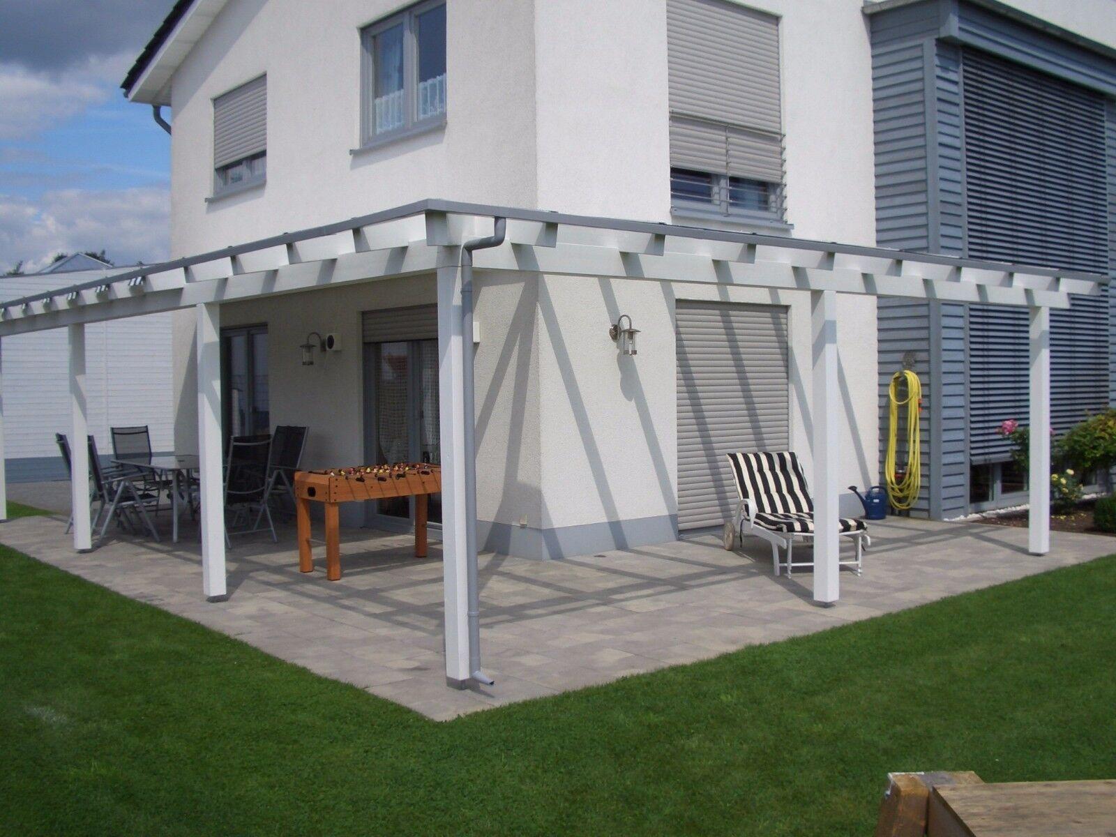 Terrassenüberdachung Holz mit Glas VSG Tiefe 4,00 Meter, breite ...