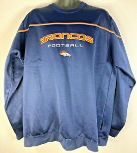 Denver-Broncos-NFL-Pullover-Windbreaker-Sweater-Men-039-s-Size-XL-Polyester-Used