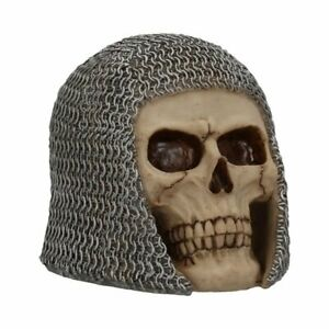 Figur-Fantasy-Tod-Schaedel-Chainmail-Skull