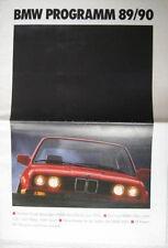 Prospekt BMW Modellprogramm 1990 - 2/89  M 3er E30 5er E34 7er E32 8er E31